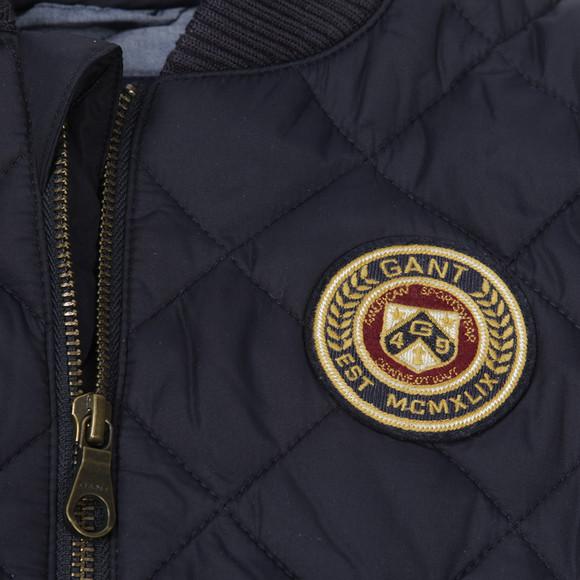 Gant Boys Blue Quilted Bomber Jacket main image