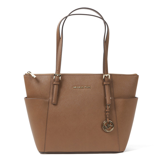 Michael Kors Womens Brown Jet Set East West Tote Bag main image