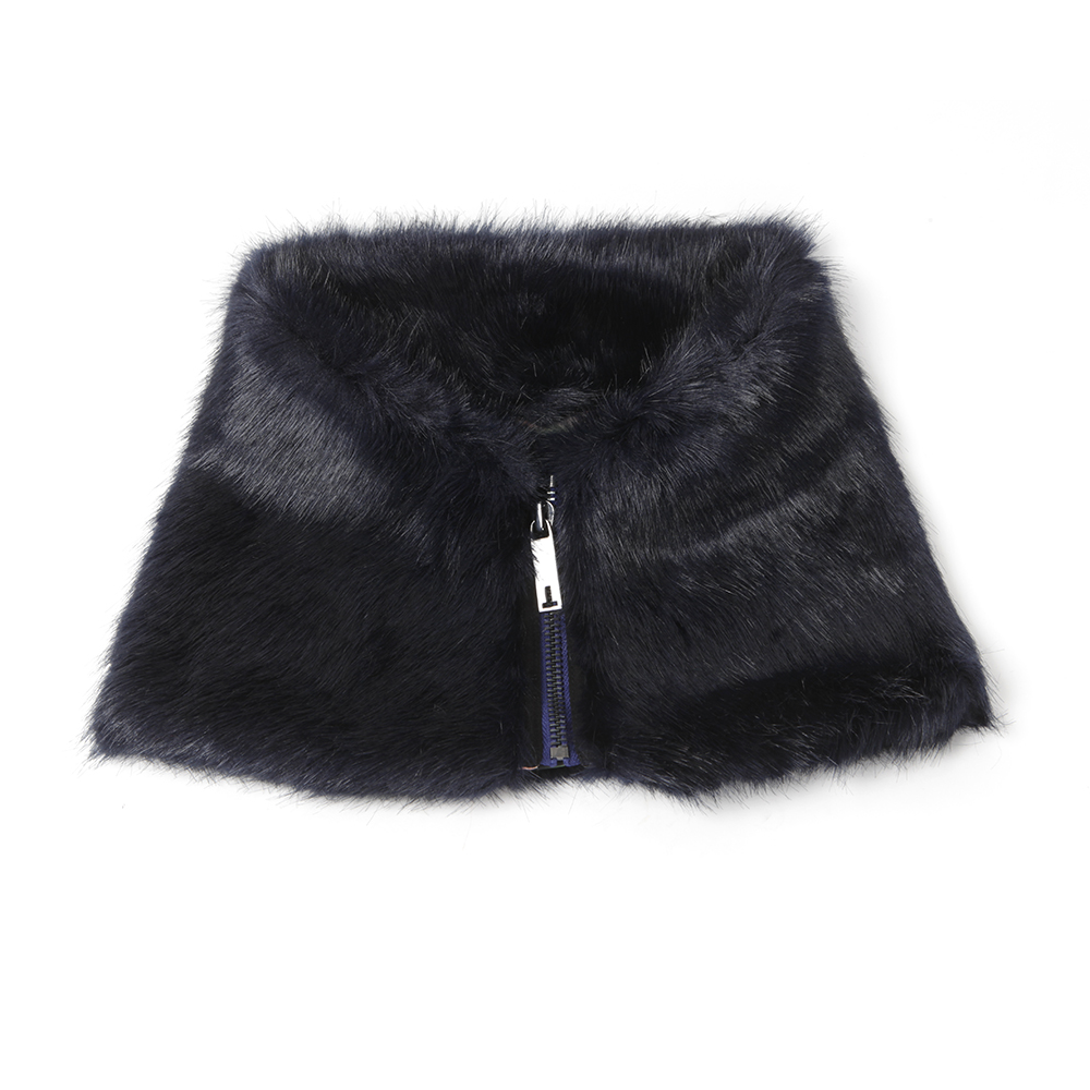Arba Zip High Neck Faux Fur Collar main image