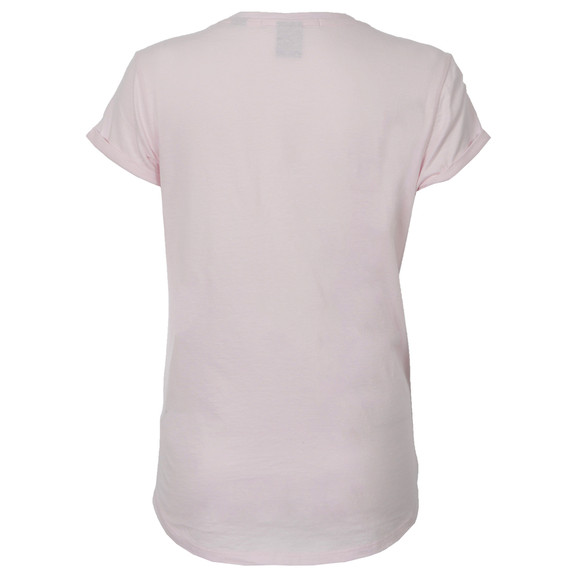 Maison Scotch Womens Pink Short Sleeve Logo Themed T-Shirt main image