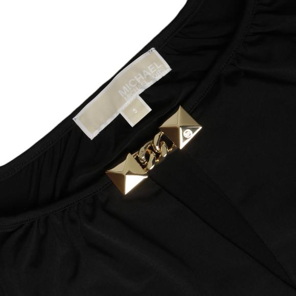 Michael Kors Womens Black Pyramid Stud Trim Top main image