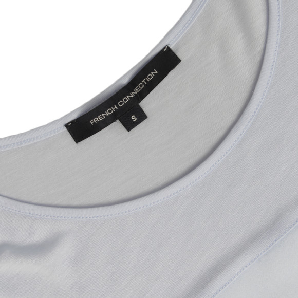 French Connection Womens Blue Polly Plain Raw Edge T-Shirt main image