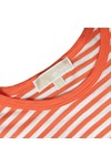 Michael Kors Womens Orange Stripe T-Shirt
