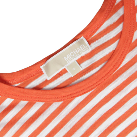 Michael Kors Womens Orange Stripe T-Shirt main image