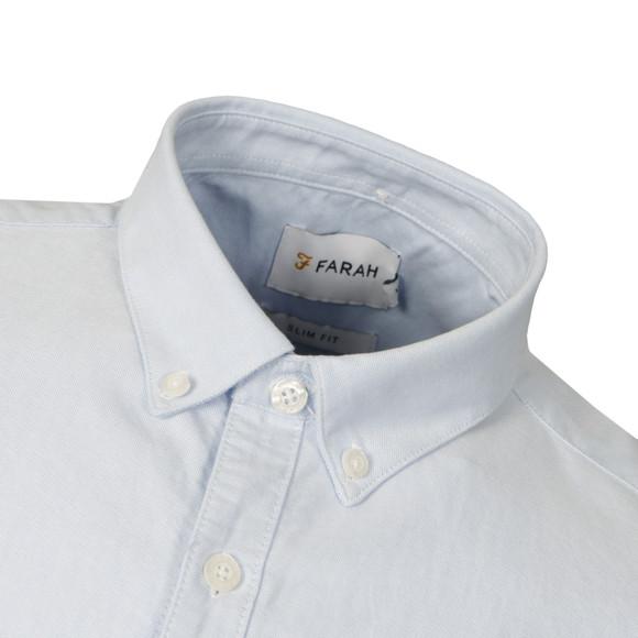 Farah Mens Blue Brewer Slim Short Sleeve Shirt main image