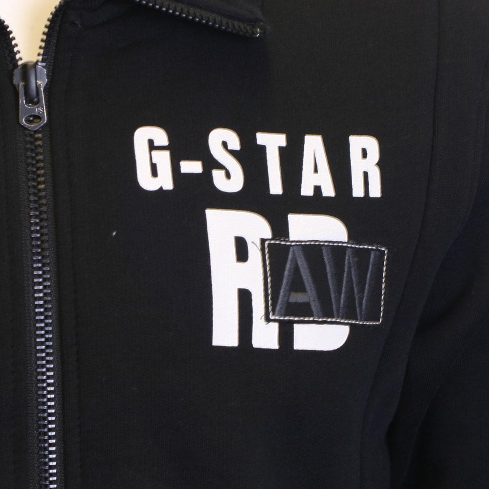 G star black austin full zip track masdings for Same day t shirt printing austin