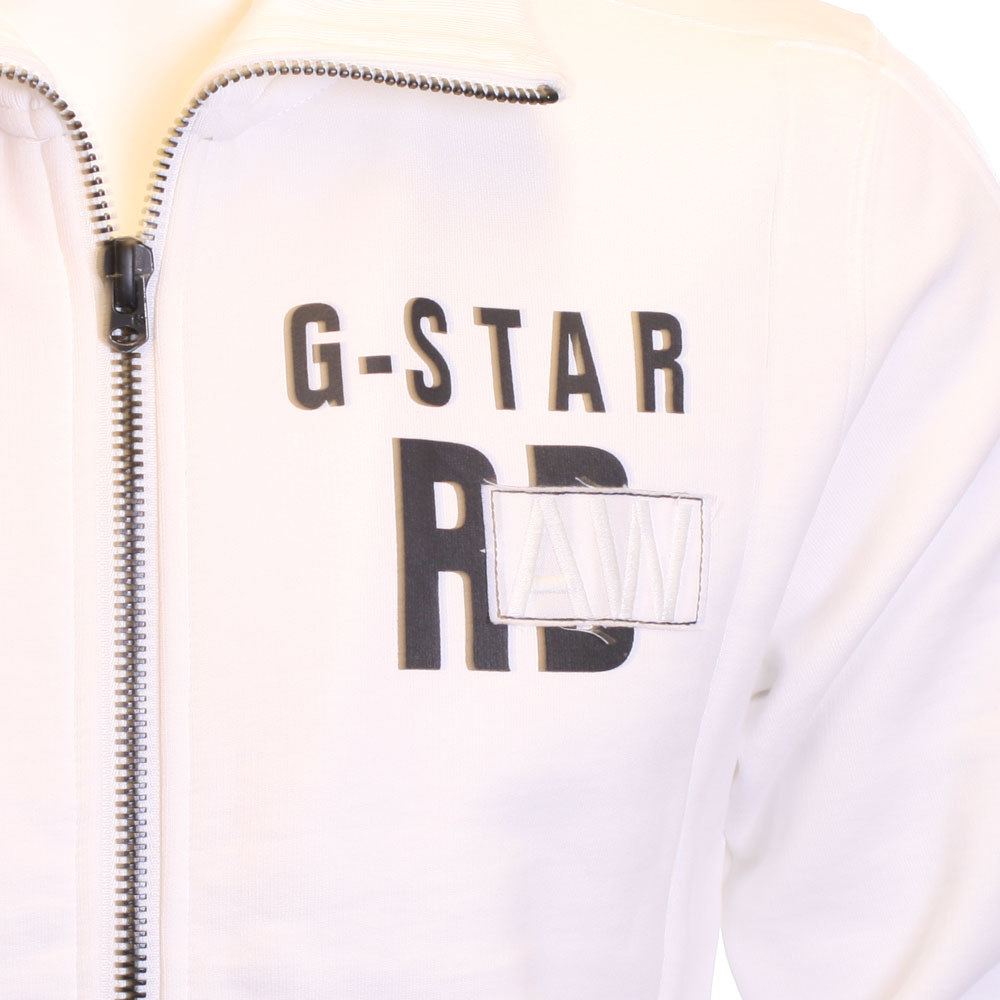 G star white austin full zip track oxygen clothing for Same day t shirt printing austin