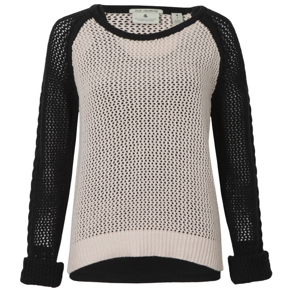 Maison Scotch Womens Black Mesh Knitted Sweater With Tank main image
