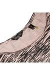 Maison Scotch Womens Bronze Zebra Printed 3/4 Sleeve T-Shirt
