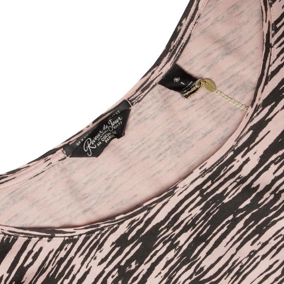 Maison Scotch Womens Bronze Zebra Printed 3/4 Sleeve T-Shirt main image