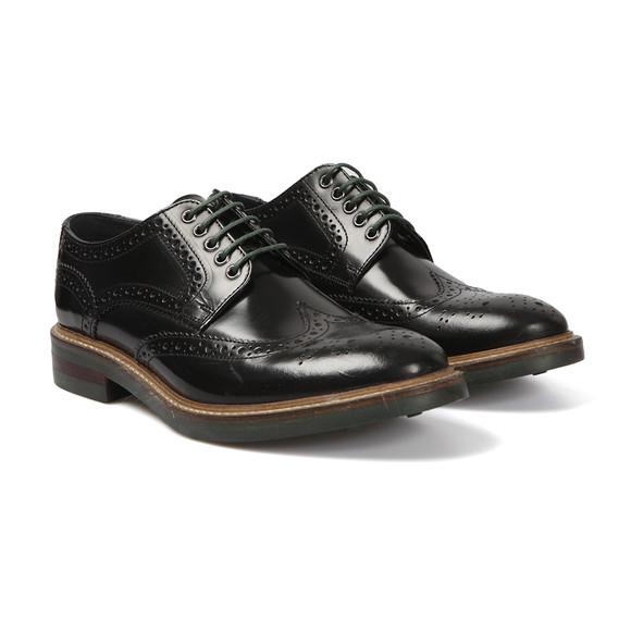Base London Mens Black Woburn Brogue Shoe main image