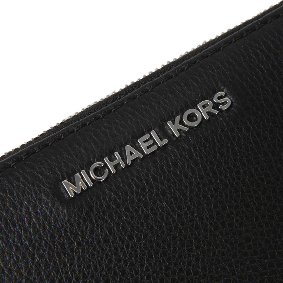 Michael Kors Womens Black Silver Bedford Continental Zip Purse main image