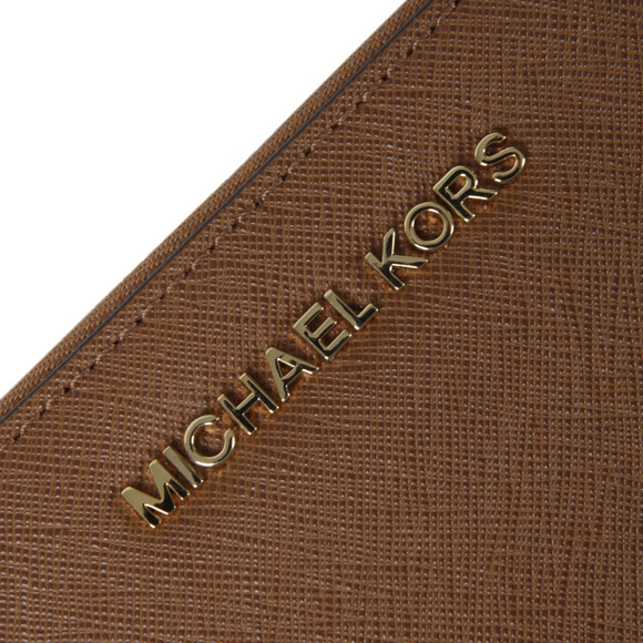 Michael Kors Womens Brown Jet Set Travel Large Coin Multi Function Phone Case main image