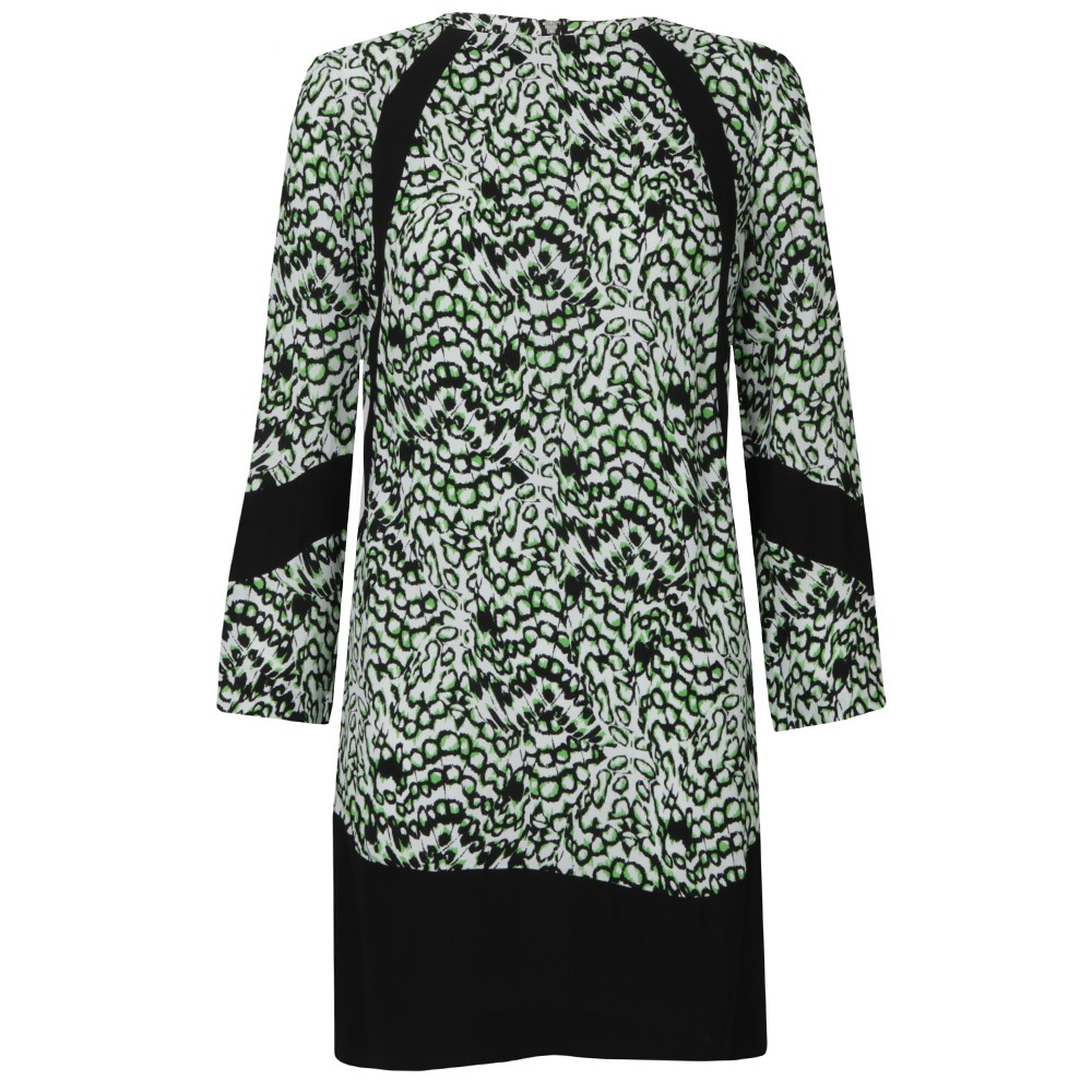 Leopard Moth Crepe Tunic Dress main image