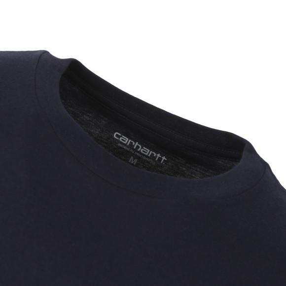 Carhartt Mens Blue College Script T-Shirt main image