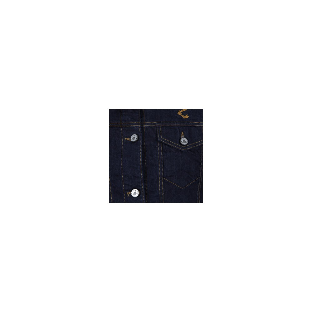 Cropped Riding Denim Jacket main image