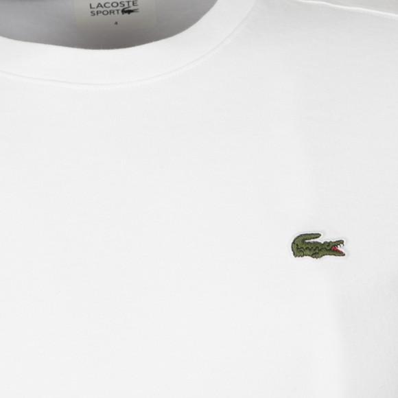 Lacoste Sport Mens White TH7618 Plain T-Shirt main image