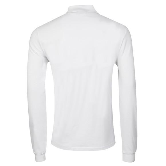 Lacoste Mens White L1312 Long Sleeve Polo main image