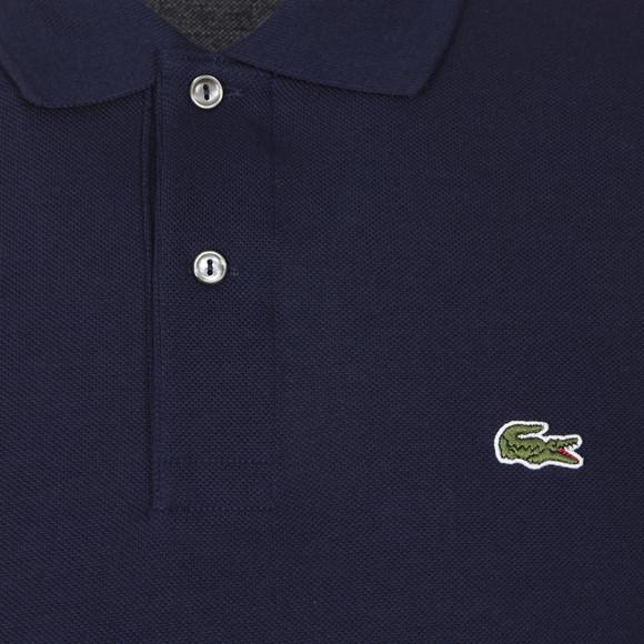 Lacoste Mens Blue L1312 Marine Long Sleeve Polo main image