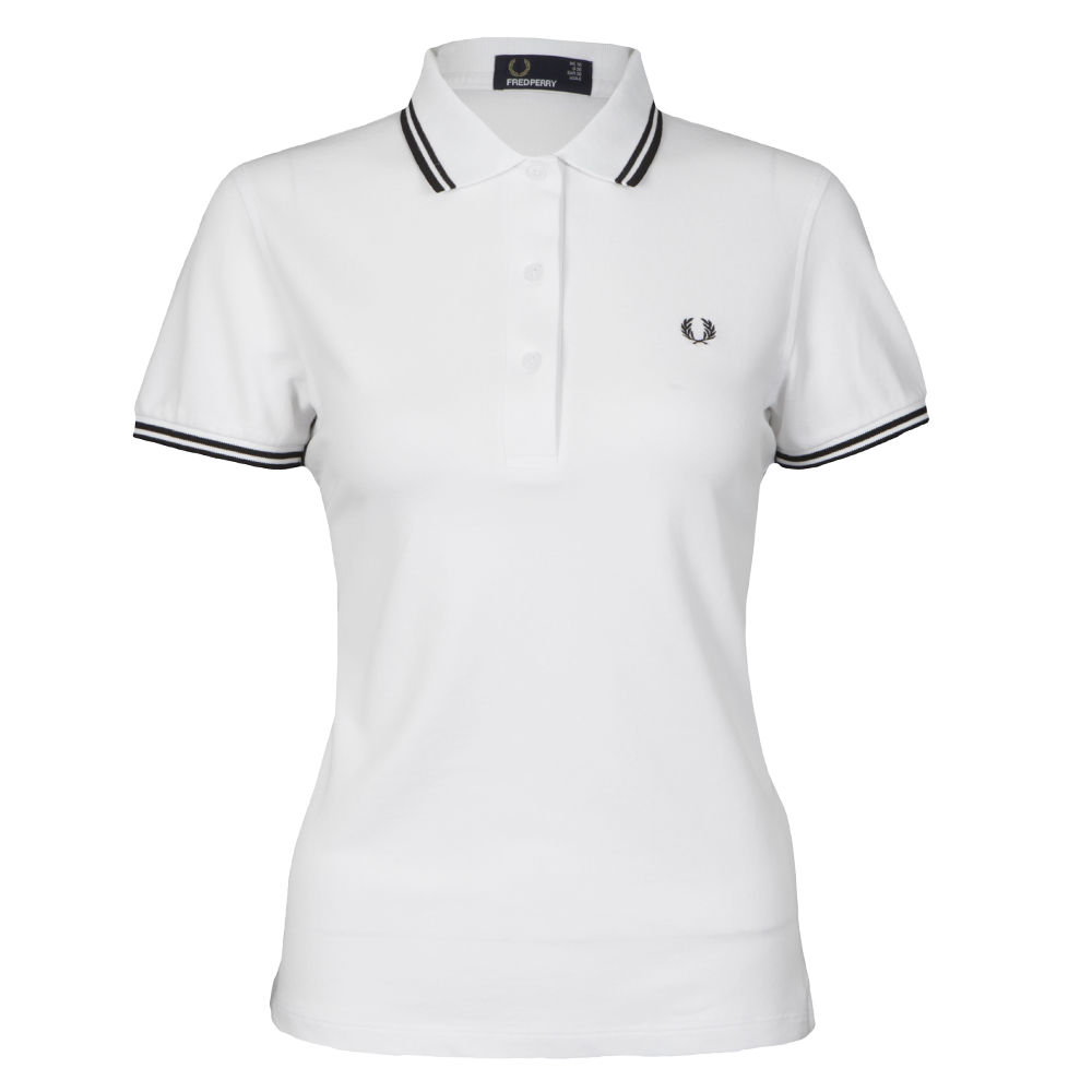 fred perry white polo shirt womens. Black Bedroom Furniture Sets. Home Design Ideas