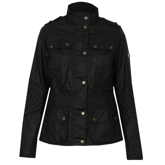 Barbour International Womens Blue Electra Wax Jacket main image