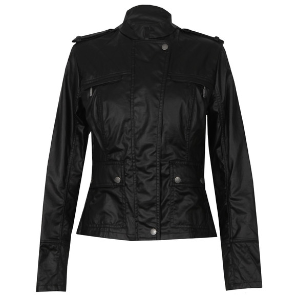 Barbour International Womens Black India Verseys Casual Jacket main image