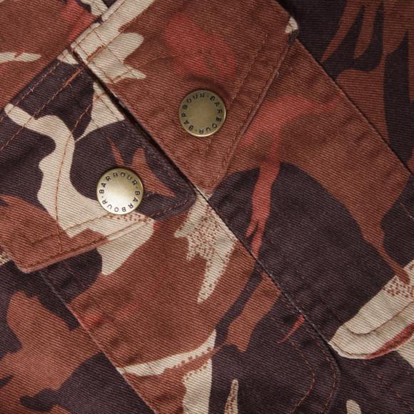 Barbour Heritage Womens Orange Mercia Camo Casual Jacket main image