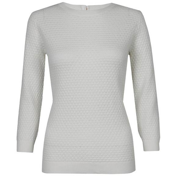 Ted Baker Womens Off-white Criana 3D Pretty Stitch Jumper main image