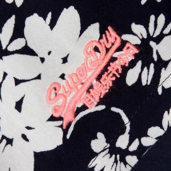 Superdry Womens Blue Festival Print Shift Skirt main image