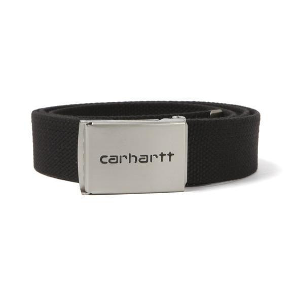 Carhartt Mens Black Clip Belt Chrome main image