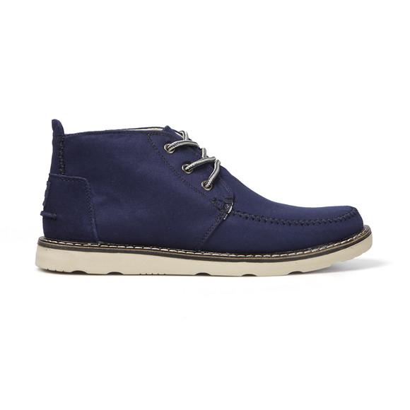 Toms Mens Blue Cotton Twill Chukka Boot main image