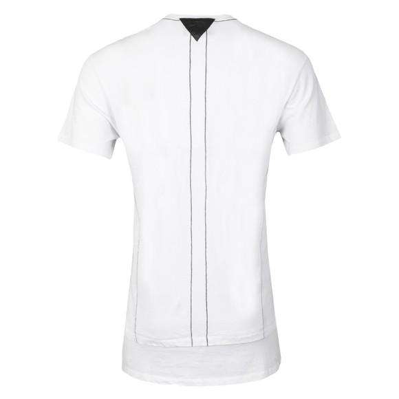 Religion Mens White Laid Double Panel 2 Zip T Shirt main image