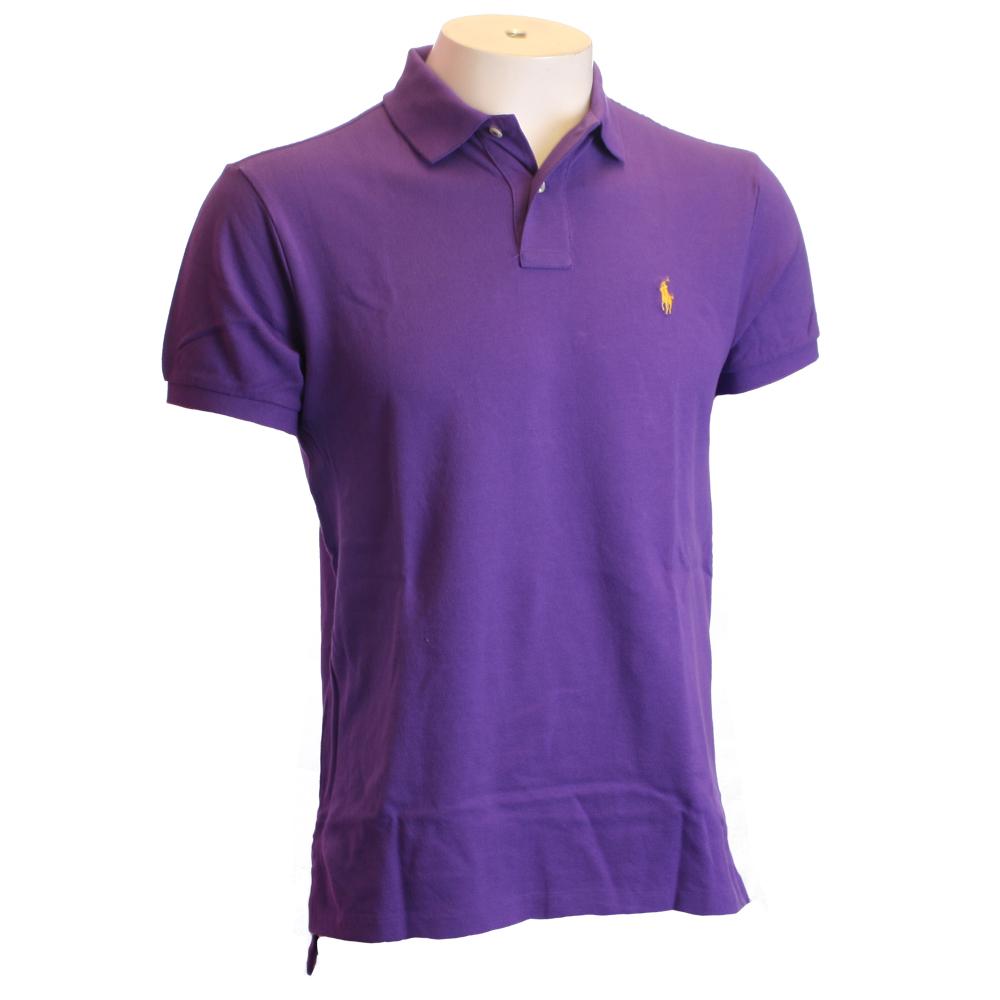 Ralph Lauren Tie Purple Custom Fit Polo Shirt Oxygen