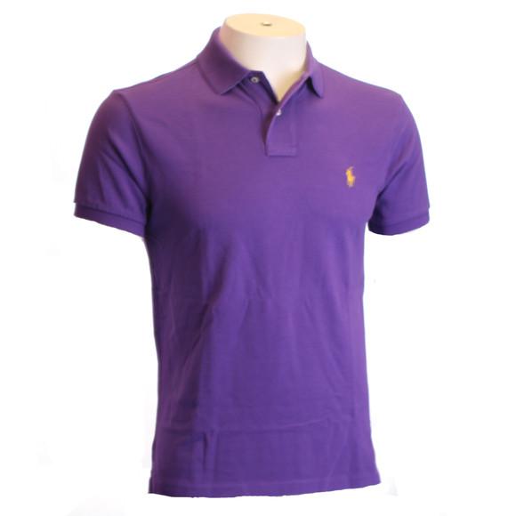 Ralph Lauren Tie Purple Slim Fit Polo Shirt Oxygen Clothing