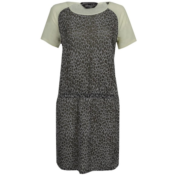 Maison Scotch Womens Grey Burnout Jersey and Woven Dress main image