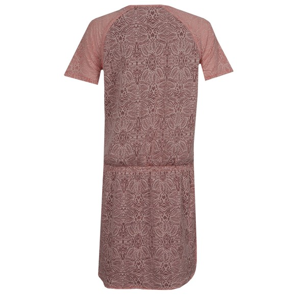 Maison Scotch Womens Pink Burnout Jersey and Woven Dress main image