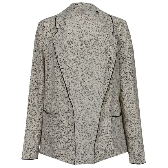 Maison Scotch Womens Off-white Drapey Blazer main image