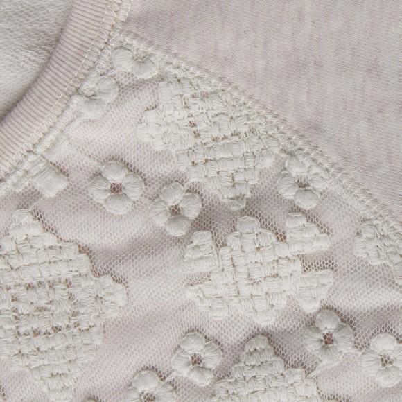 Maison Scotch Womens Pink Sweat With Lace Panel main image