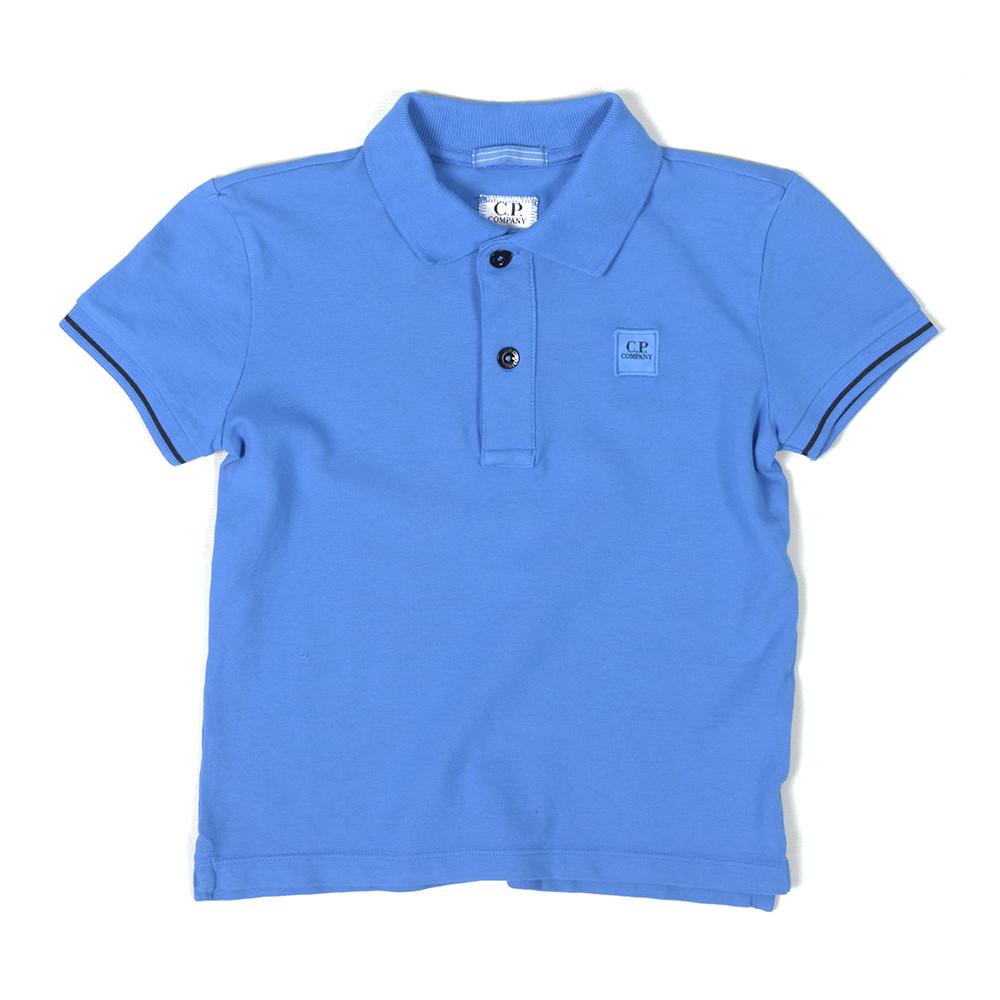 Cp company undersixteen square logo polo shirt oxygen for Polo shirt with company logo