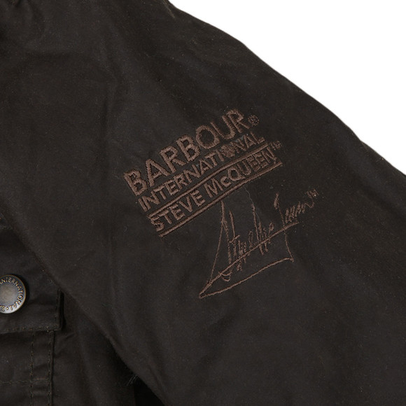 Barbour Steve McQueen Boys Green Boys Chico Wax Jacket main image