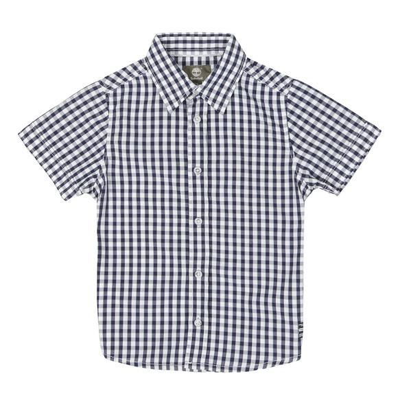 Timberland Boys Blue T25H61 Gingham Shirt main image