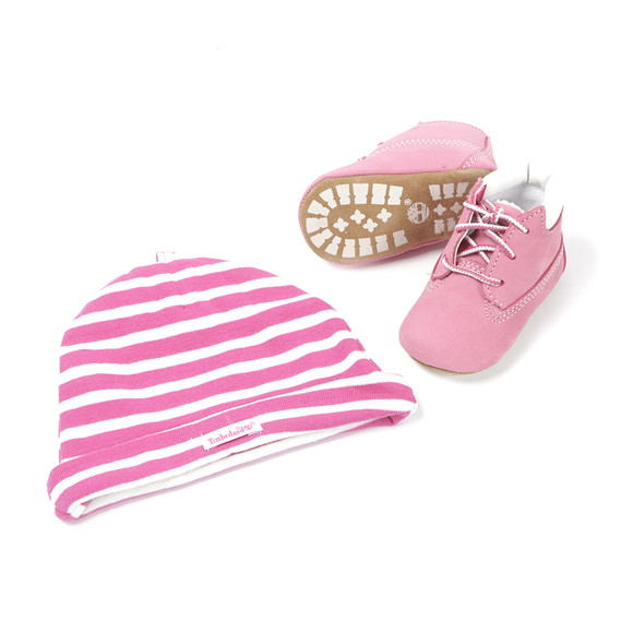 Timberland Girls Pink Crib Boots & Hat  main image