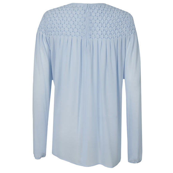 Michael Kors Womens Blue Smocking Top main image