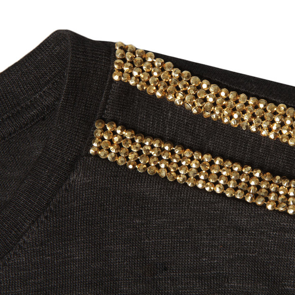 Michael Kors Womens Black Stud Shoulder Top main image