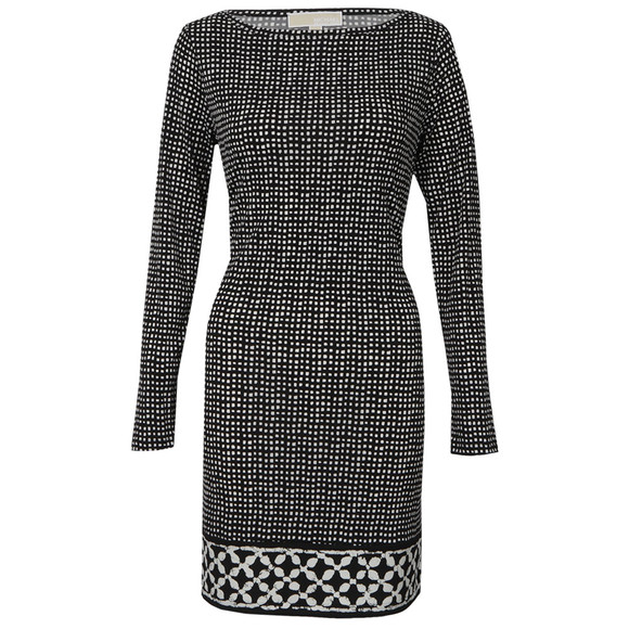 Michael Kors Womens Black Nezla Long Sleeve Dress main image