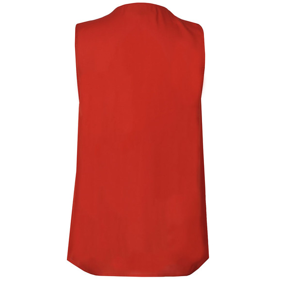 Michael Kors Womens Red Zip Top main image