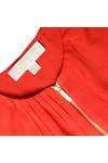 Michael Kors Womens Red Zip Top