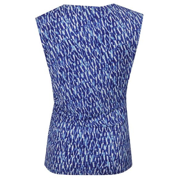Michael Kors Womens Blue Riviera Logo Trim Top main image