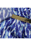 Michael Kors Womens Blue Riviera Logo Trim Top