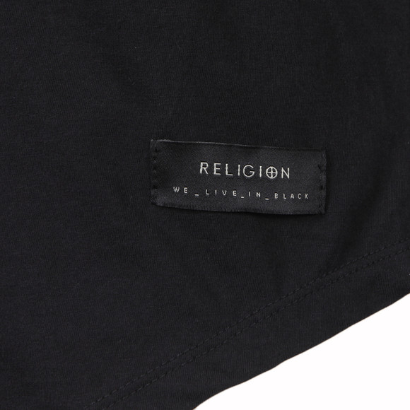 Religion Mens Black Danger T Shirt main image